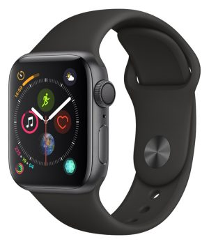 Apple Watch Series 4 40mm with Black Sport Band