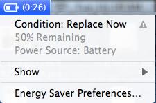 προβλήματα macbook - replace now battery