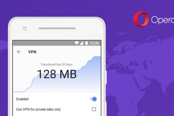 opera browser with vpn